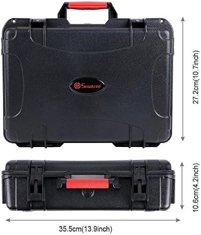 Smatree Housse de transport pour DJI Spark,Boîtier étanche pour drone pour 4 Spark Batteries,Télécommande,Chargeur de batterie et Garde d'hélice