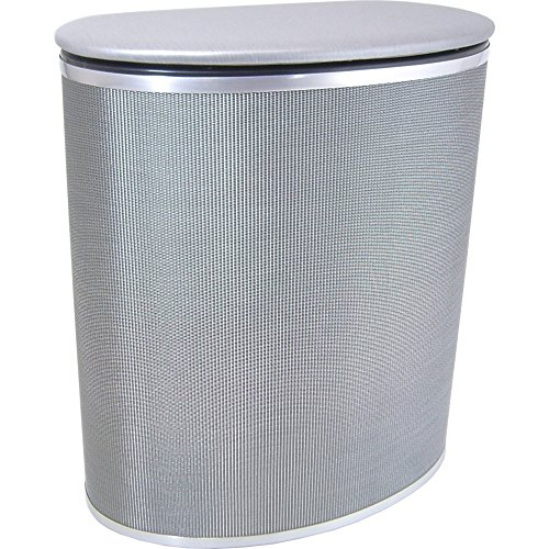 Redmon Pewter Style Bowed Front Hamper (Pewter Lid)