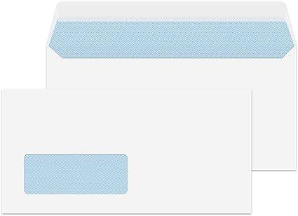 500 C5 plain Envelopes paper Wallets 229x162 self seal WHITE letter no window
