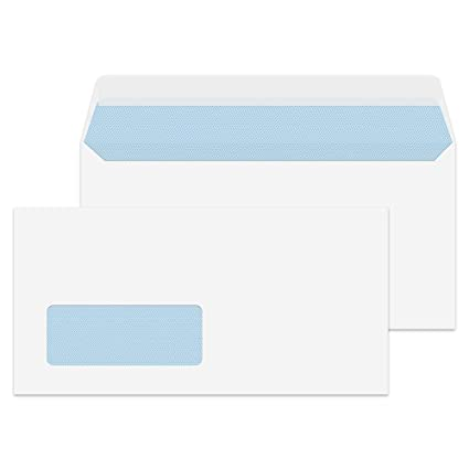 Pack of 200 Peel /& Seal DL White Opaque Privacy Letter Envelopes 110 x 220mm FSC