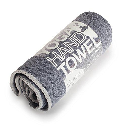 "YogaRat Hand Charc-Ash 100% Microfiber Yoga Towels Size (15"" x 24"") Charcoal/Ash"
