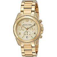 Michael Kors - reloj dorado con brillantes, modelo MK5166
