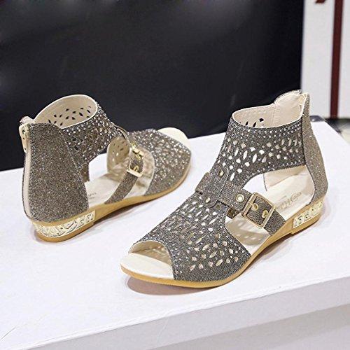Zapato Mujer, Culater Sandalias Plano Verano Outdoor Pumps Gold
