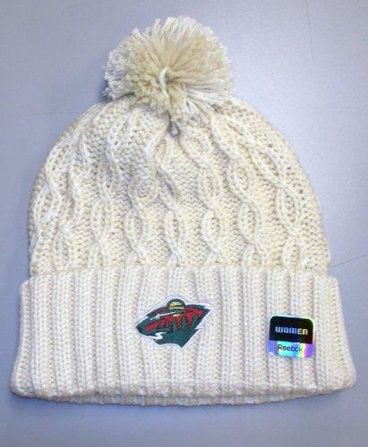 Minnesota Wild Cuffed Pom Knit Reebok Hat - Women Osfa