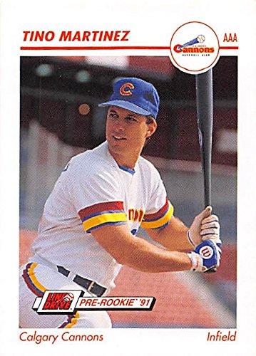 (Tino Martinez baseball card (Calgary Cannons New York Yankees World Series Champion) 1991 Impel #66 Pre Rookie)