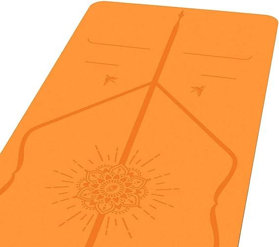 Liforme Esterilla De Yoga Happiness - Mejor Estera De Yoga del Mundo con  Sistema De Alineación Patentado - Yoga Mat Ecológica y Completamente  Antideslizante - Edición Especial Happiness - Naranja: Amazon.es: Deportes