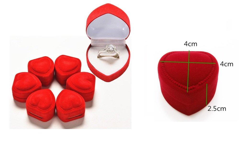 Bo/îte coeur rouge pour bague Alliance Ecrin Mariage Coeur Romantique