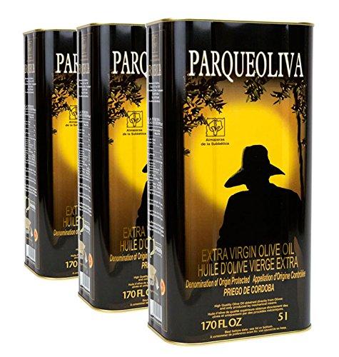 Aceite de oliva virgen extra - Parqueoliva - 3 latas de 5 litros (3 x 5l) Por Oliva Oliva Internet S.L.: Amazon.es: Alimentación y bebidas