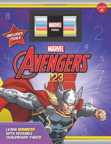 Marvel's Avengers Chalkboard 123: Learn numbers with reusable chalkboard pages! (Licensed Chalkboard Concepts) ()