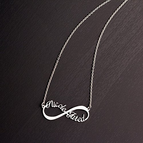10K Yellow Gold Infinite Love Name Necklace with a 16'' Chain by JEWLR by TSD (Image #1)'