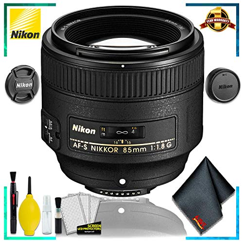 Nikon 85MM f.1.8G AF-S Lens (International Model) + Cleaning Kit
