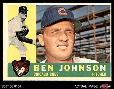 Amazoncom 1960 Topps 528 Ben Johnson Chicago Cubs