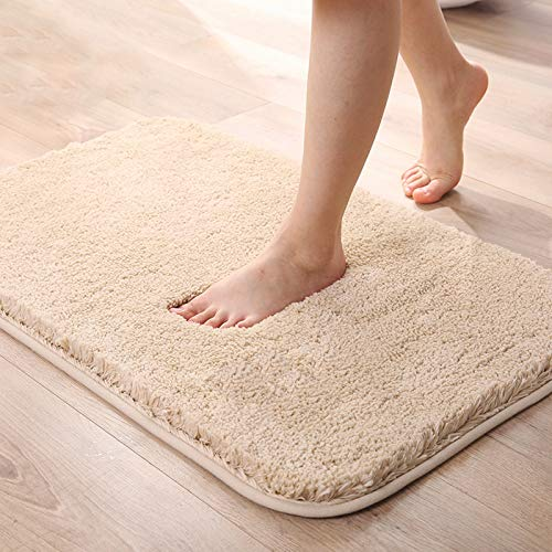 Jiasigao Bathroom Rug Non Slip Microfiber Bath Mat 20×32 Inch, Extra Soft and Absorbent Shaggy Rugs, Machine Wash Dry…