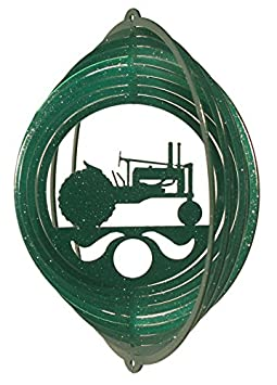 SWEN Products TRACTOR Circle Mini Swirly Metal Wind Spinner