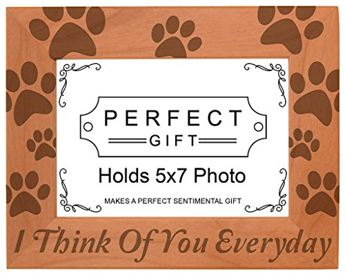 Gifts For All By Rachel Olevia Pet Memorial Gift I Think You Everyday Natural Wood Engraved 5x7 Landscape Picture Frame Wood