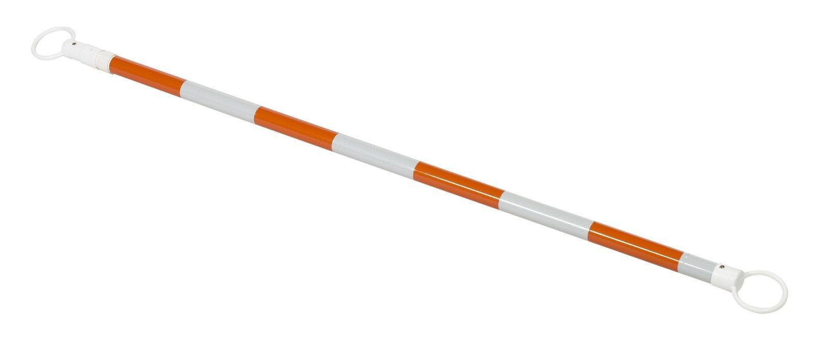 (Set of 20) RK CBAROW10 PVC Retractable Cone Bar, 2'' OD x 70-120'' Length, Orange