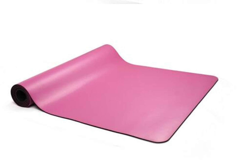 Daicushangmao ヨガマットゴム製PU環境無味滑り止めスポーツフィットネス B07SBNP354 ピンク