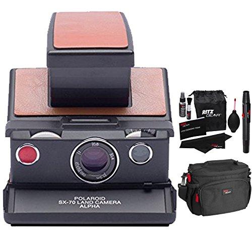 Polaroid SX-70 Camera - Alpha Black & Brown Skin Original In