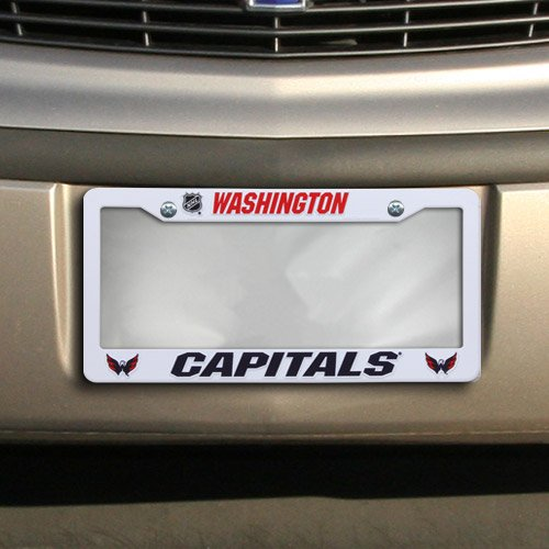 "NHL Washington Capitals Plastic Plate Frame, 12""x 6"", White"