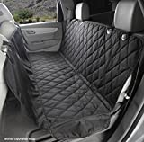 Cheap 4Knines Dog Seat Cover with Hammock for Cars, Trucks and SUVs – New Waterproof Seat Bottom – USA Based Company (Regular, Black)