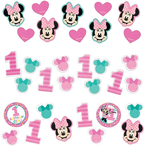 Minnie Mouse 1st Birthday 'Fun to Be One' Confetti Value Pack (3 types) -