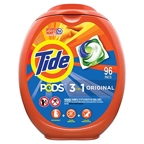 Tide PODS Laundry Detergent Liquid Pacs, Original Scent, HE Compatible, 96 Count (Packaging May Vary) (Not Using He Detergent In He Washer)
