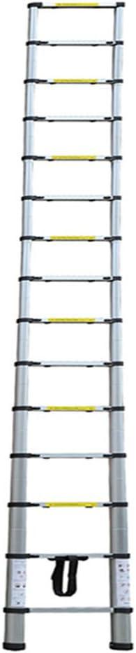 LARS360 3.8M Telescopic Ladder Aluminium Telescoping Ladder Extension Extend Portable Ladder Foldable Ladder Multi-Purpose Function