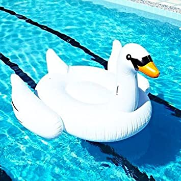 Great Inflatable Giant Swan Pool Toy Float Swim Ring 1.5m