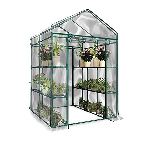 sycamorie Portable Outdoor Mini Garden Walk-Out Greenhouses,waterproof UV-proof Greenhouse PE Garden Walk-in Greenhouse…