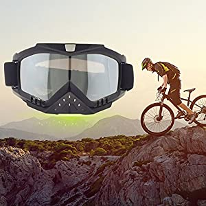 Ski Goggles Riding Outdoor Windproof Glasses Snowboard Ski Goggles Eyewear Adjustable UV Protective Portable Motorcycle Play Games Goggles Eyewear Dust-proof Combat Off-road Helmet Goggles