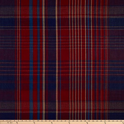 Ralph Lauren Plaid Fabric - Ralph Lauren Home LFY68318F Wilhelm Linen Plaid Fabric the Yard, Maasai