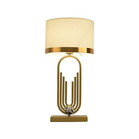 JJSFJH Lámpara de Mesa Decorativa de Tela Líneas geométricas ...