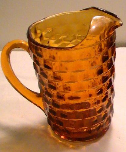Indiana Glass Glass Pitcher - Vintage Indiana Whitehall Amber Pitcher