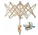 Inline Yarn Ball Winder and Wooden Umbrella Yarn Swift Combo!