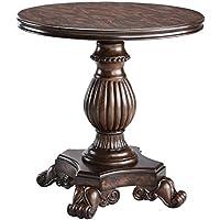 Stein World Furniture Ellsworth Pedestal Table, Rich Dark Distressed