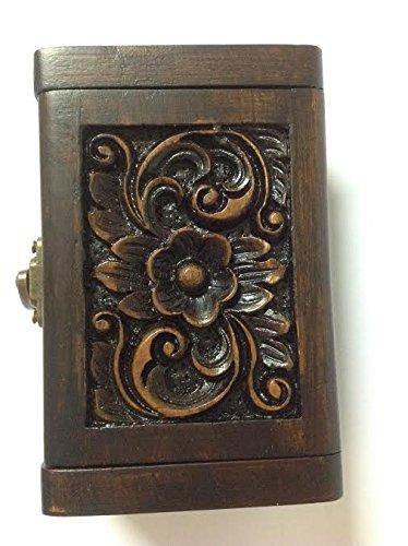 Ecosystem Pocket Insert (Business Name Card Case Holder Wood Handmade Teak Wooden case box Gift Brown)