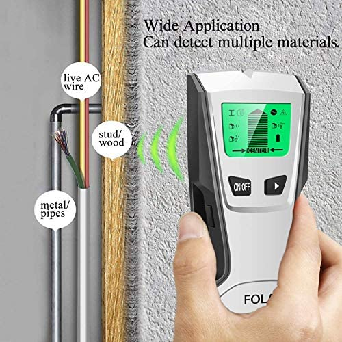 Stud Finder Sensor Wall Scanner -4 in 1 Electronic Stud Posi Tioner with Digital LCD Display, Central Positioning Stud Sensor and Sound Alarm are Display for Wood AC Wire Metal Studs Detection