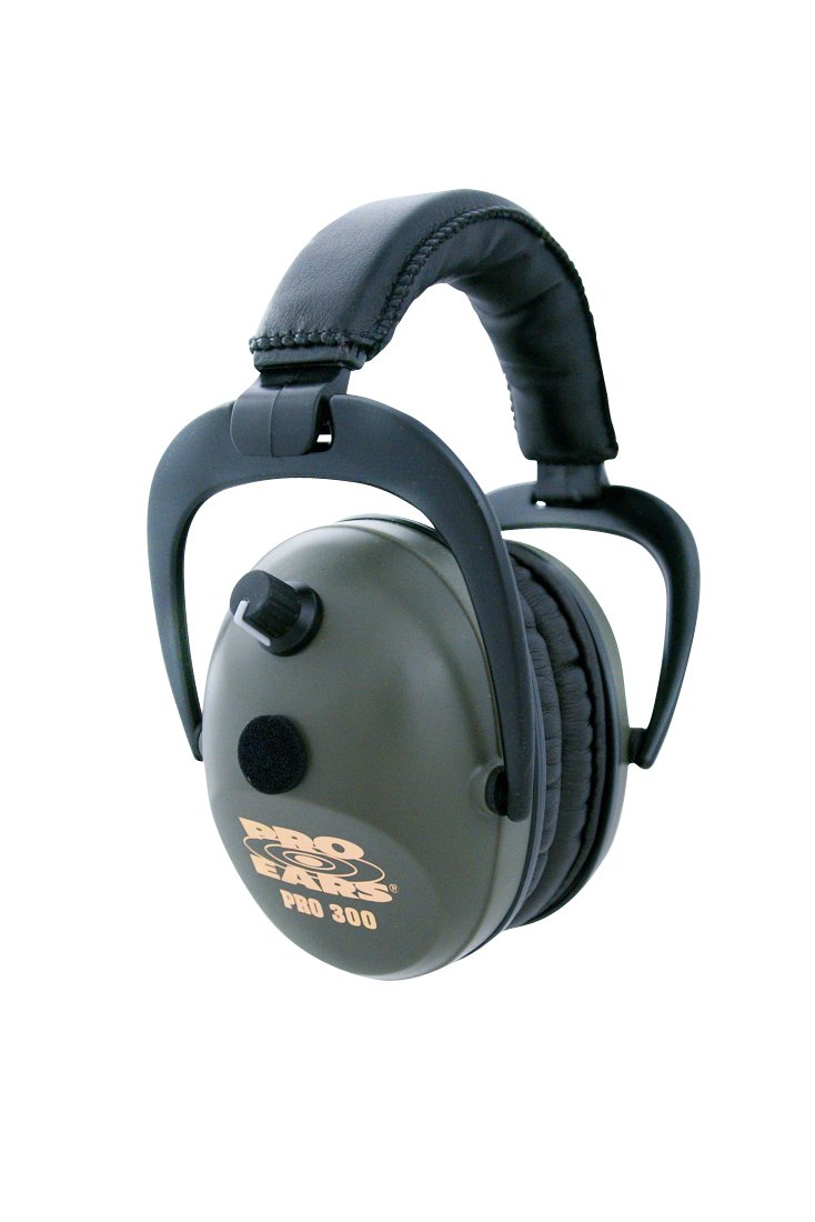 Pro Ears - Pro 300 - Electronic Hearing Protection and Amplification - NRR 26 - Ear  Muffs - Green by Pro Ears