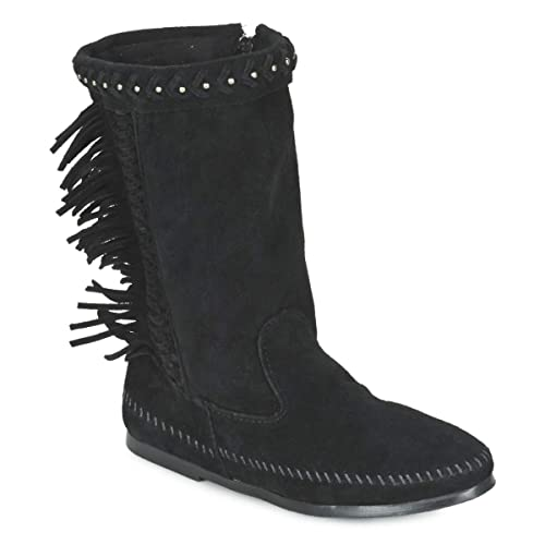 Luna Boot Minnetonka Boots Noir Fringe BottinesBoots Femmes 34j5ARLqSc