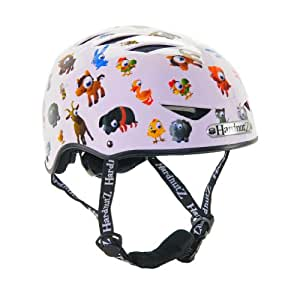 HardnutZ Helmets - Casco de ciclismo para niño (51-54cm), diseño de Old MacDonald, color blanco