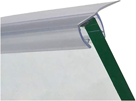 95 Long CRL Shower Door Polycarbonate with 90 degree 7//8 Long Vinyl Fin Seal for 3//8 Glass