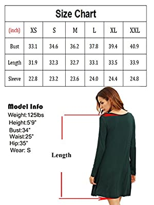 Romwe Women's Casual Long Sleeve T-Shirt Swing Loose Tunic Dress