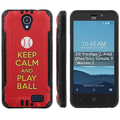 [Mobiflare] ZTE Prestige 2/Avid [Plus/Trio]/Sonata 3/Maven 2 Shock Proof Cover [Black] Protective Phone Case - [Play Ball - St. Louis] for ZTE N9136 [5