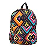 Cheap Bohemian Tribal Aztec Canvas Backpack School Travel Shoulder Bag, Brown
