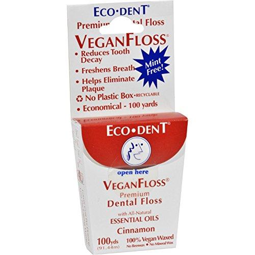 Eco-Dent VeganFloss Premium Dental Floss Cinnamon - 100 Yards - Case of 6