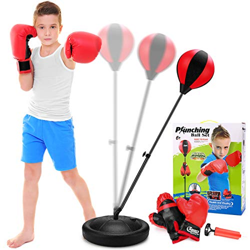 Punching Bag for Kids with Boxing Glove – Sport Boxing Sets with Adjustable Height Stand, Great Exercise & Fun Activity…