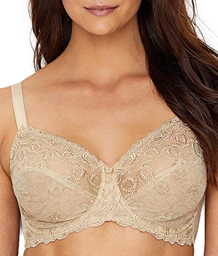 (Wacoal Women's Renaissance Rose  Embroidered Underwire Bra, Buff, 38DDD)