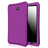Fintie Samsung Galaxy Tab A 10.1 Case, [Honey Comb Series] Light Weight Shock Proof Silicone Cover [Anti Slip] [Kids Friendly] for Tab A 10.1 Inch (NO S Pen Version SM-T580/T585/T587) Tablet (Purple)