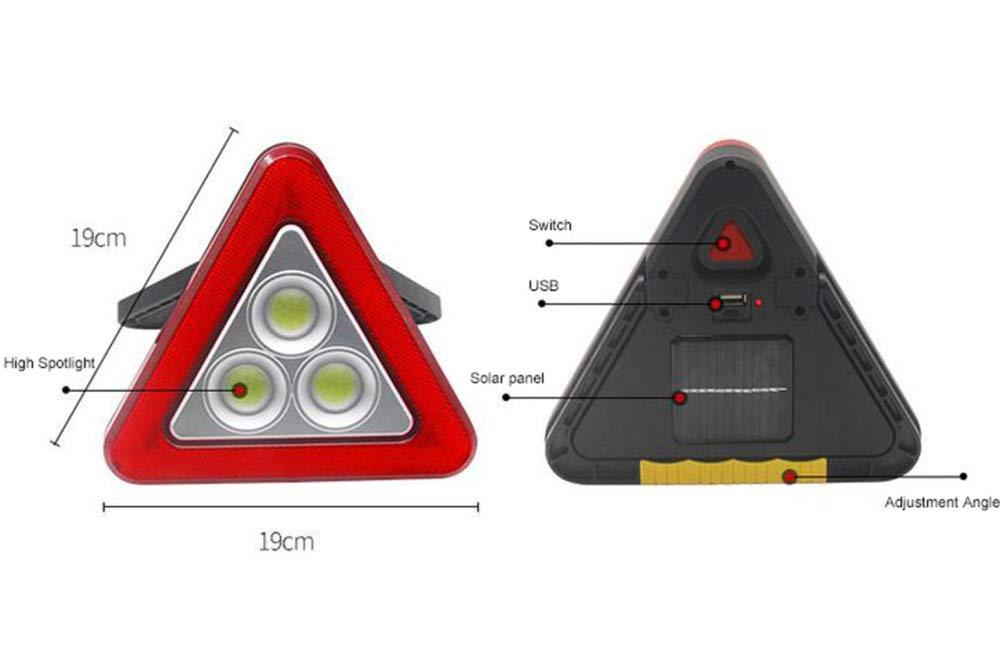 ALZHP Warndreieck LED Arbeits-Licht Flutlicht Red Flash F/ür Autopannen Stra/ßenrand Notfall LED-Zeichen-Licht