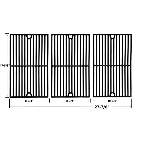 Cast Iron Cooking Grid for Brinkmann 810-1570-0, 810-2415-W, 810-2545-W, 810-7231-W, 810-9325-0, 810-9419-0, 810-9419-R, 7231 and Grill King 810-9325-0 Gas Grill Models, Set of 3